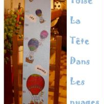 Cration chambre d'enfant : La tte dans les nuages