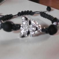 Cration bracelet Shambala Panthre noire et argente