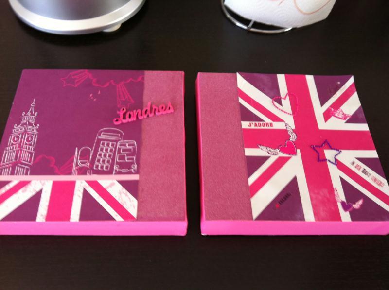 Decoration Londres Rose : Création cadres londres pour petite fille créations