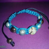 Fabrication bracelet shamballa bleu et fimo les miraldises