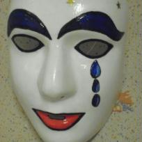 Fabrication masque de pierrot en larme