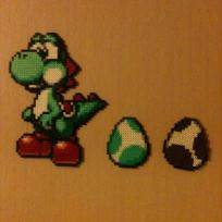Cration en perles hama yoshi 