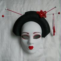 Cration de masque de carnaval : La geisha