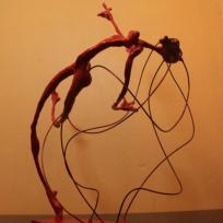 Création de sculpture : Jackeline's red flying hair