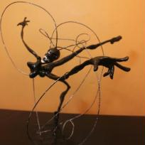 Création de sculpture : Jackeline's black flying hair