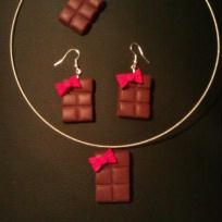 Cration Ensemble bijoux FIMO Chocolat