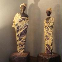 Fabrication Couple d'africains en powertex