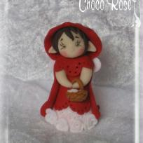 Cration Fe en modelage FIMO Petit chaperon rouge