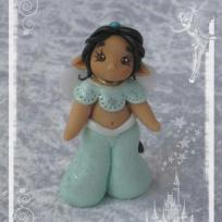 Cration petite figurine fe en pte fimo Princesse Disney Jasmine