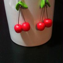 Ralisation Boucles d'oreilles CERISES FIMO