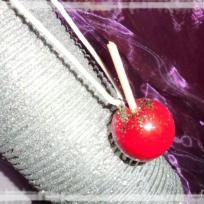  Cration collier pomme d'amour gourmand