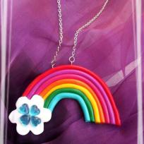  Cration collier arc en ciel color
