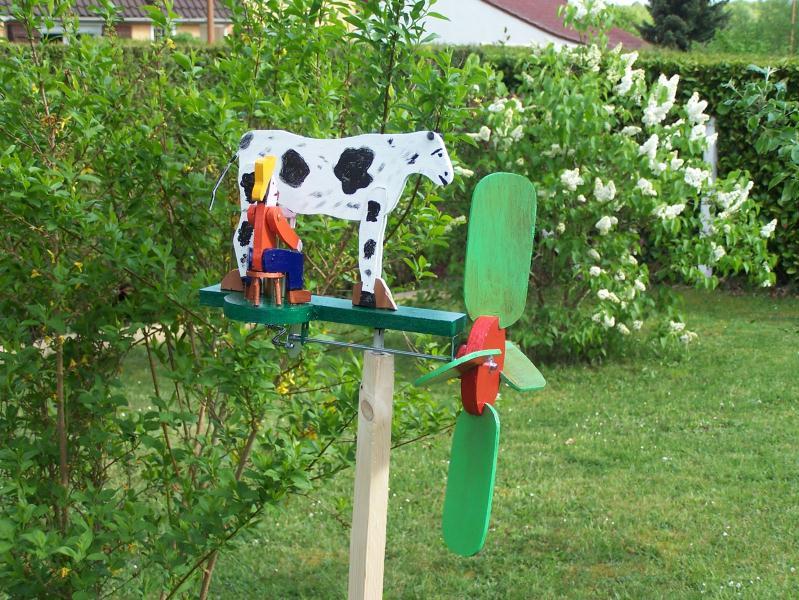 Création girouette  la vache marguerite  Créations
