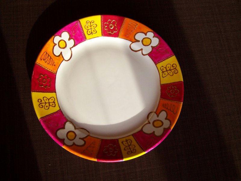 decoration d 39 assiette cr ations peinture sur porcelaine et verre de l 39 atelier de manue n 4971. Black Bedroom Furniture Sets. Home Design Ideas