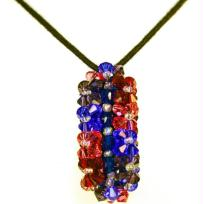 collier pense rouge et bleu