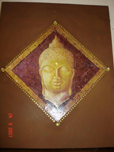 bouddha marron dor cr ations beaux arts peinture de soanne30 n 9895 vue 3284 fois. Black Bedroom Furniture Sets. Home Design Ideas